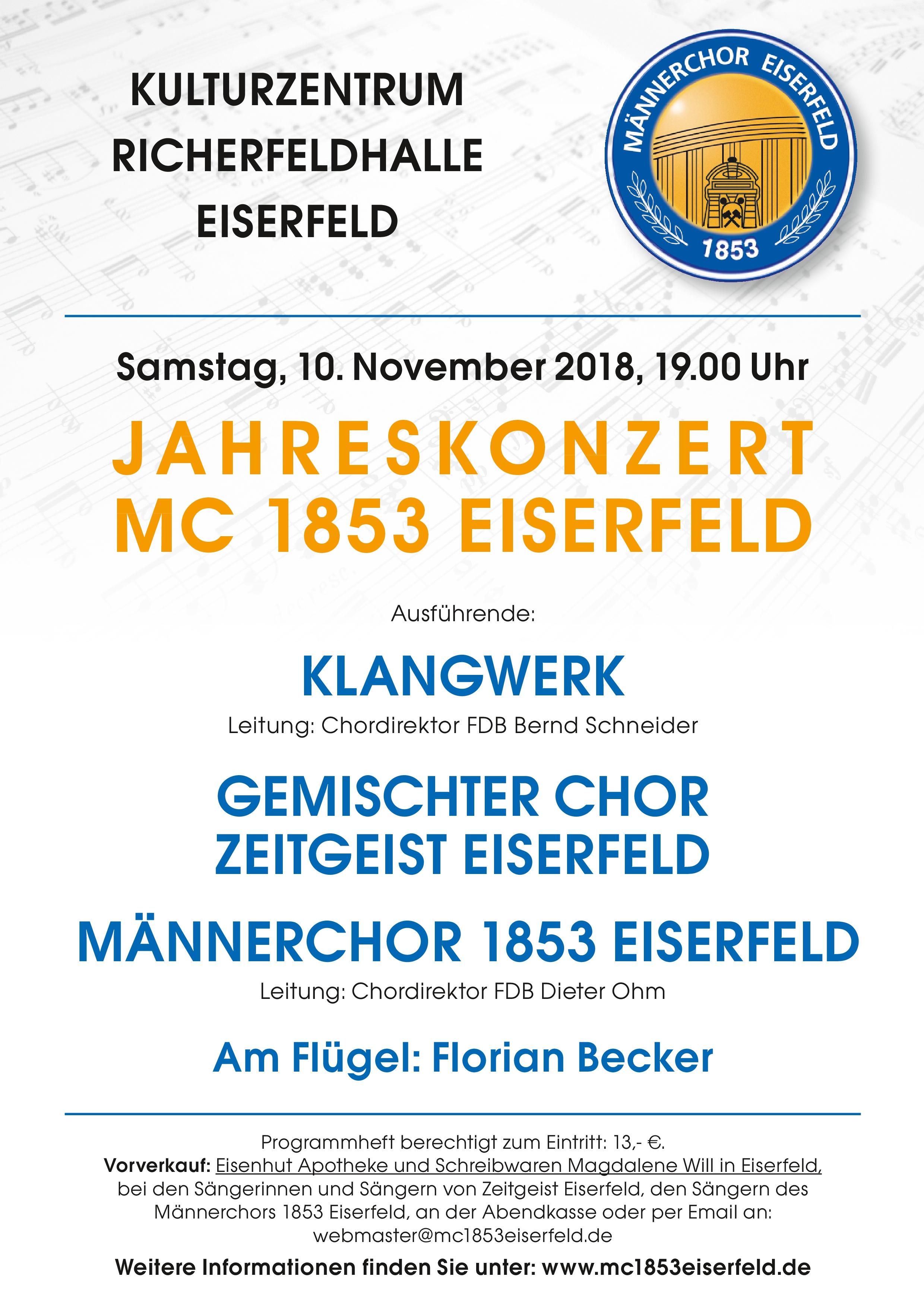 Plakat Konzert 2018